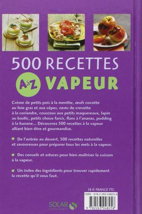 500 recettes vapeur