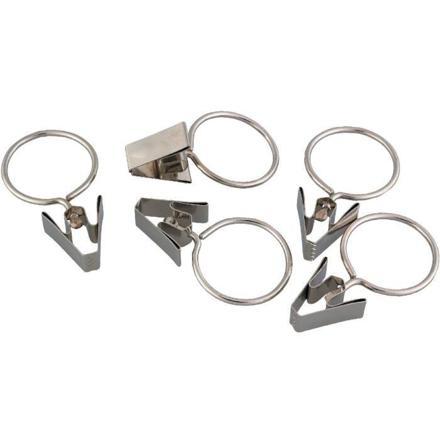 anneaux à pinces pour rideaux