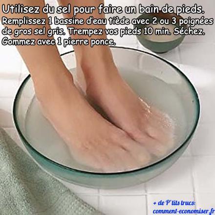 bain de pied maison relaxant