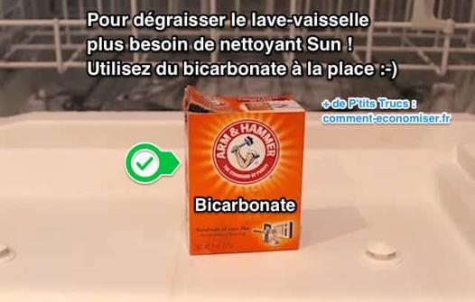 bicarbonate lave vaisselle