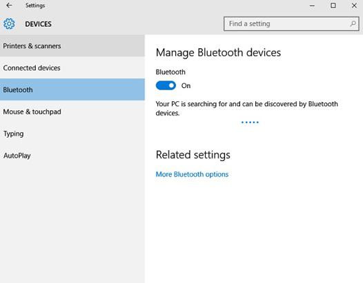 bluetooth pc windows 10