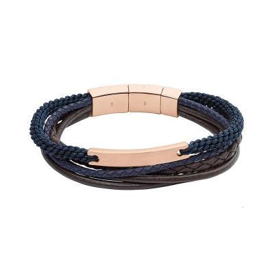 bracelet fossil cuir homme