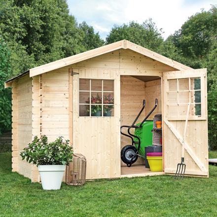 cabane jardin bois