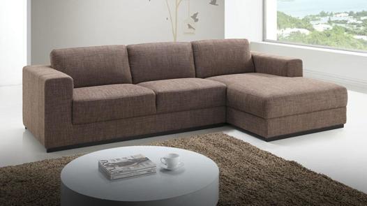 canapé tissu marron