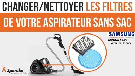 changer filtre aspirateur sans sac