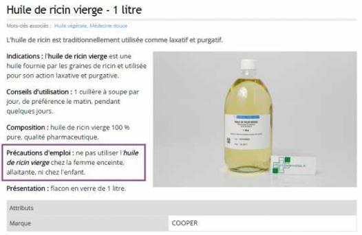 composition huile de ricin