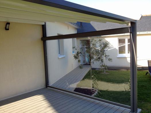 coupe vent terrasse retractable