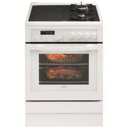 cuisiniere mixte gaz induction