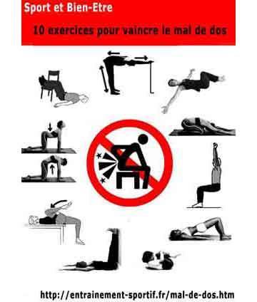 exercice pour soulager le mal de dos