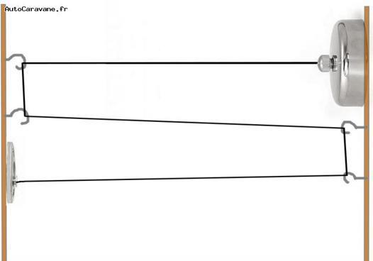 fil pour étendre le linge