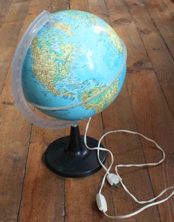 globe lampe de chevet