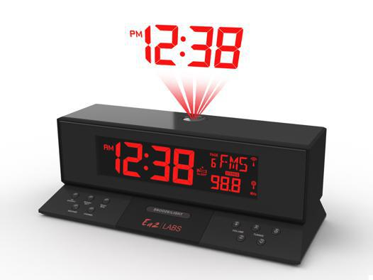 horloge projection plafond