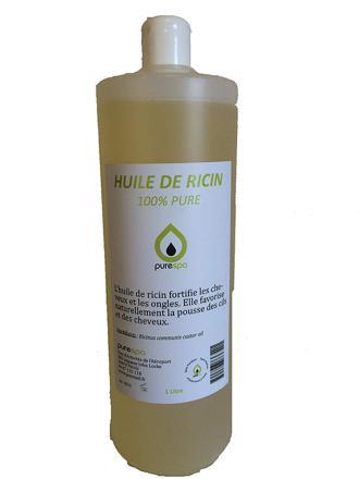 huile de ricin bio 1 litre