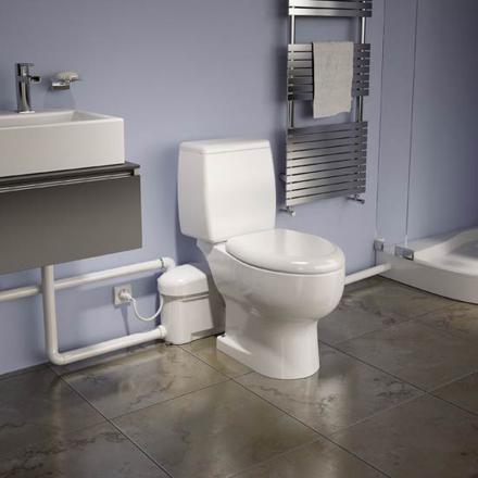 installation wc broyeur silencieux