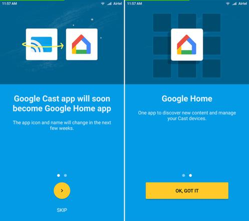 interface google home