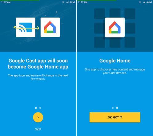 interface google home