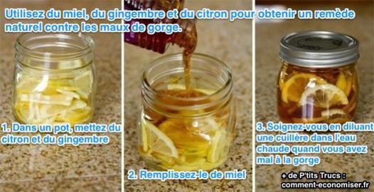 le miel pour la gorge