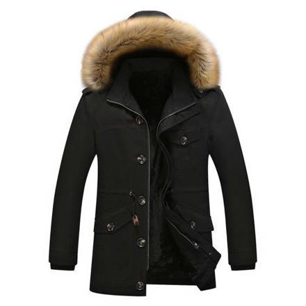 manteau homme avec capuche fourrure