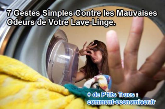 mauvaise odeur machine à laver