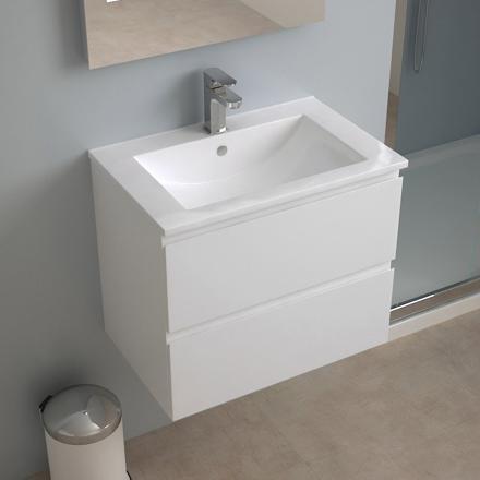 meuble lavabo suspendu pas cher