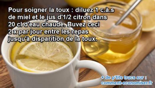 miel contre la toux