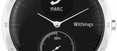 montre connectée avec aiguilles
