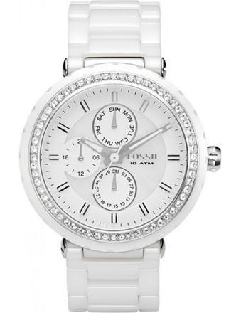 montre fossil blanche