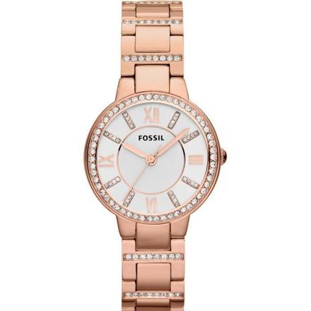 montre fossil femme acier rose