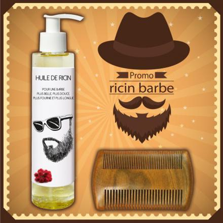ou huile de ricin barbe