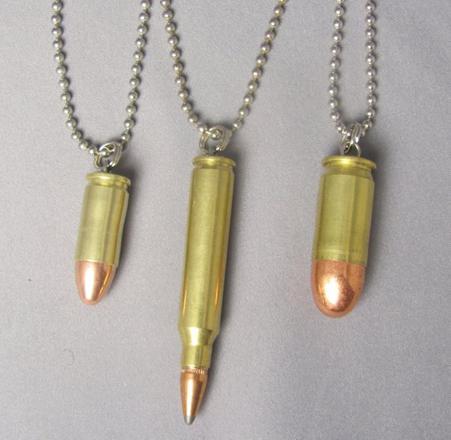 pendentif balle 9mm