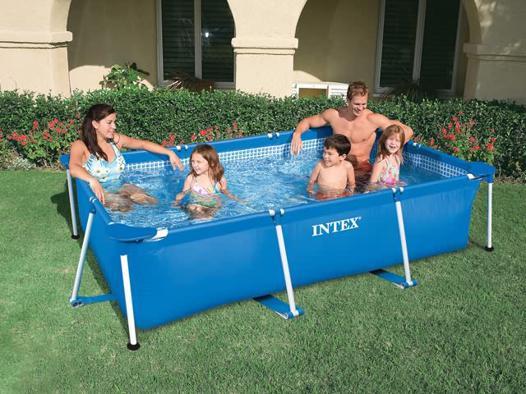 piscine hors sol tubulaire rectangulaire intex