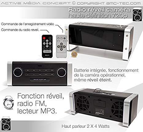 radio reveil camera