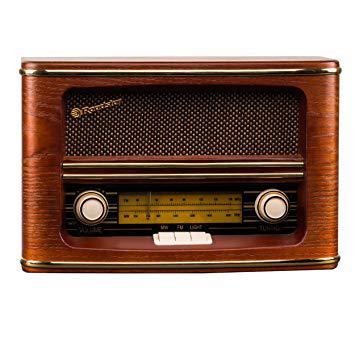 radio vintage bois