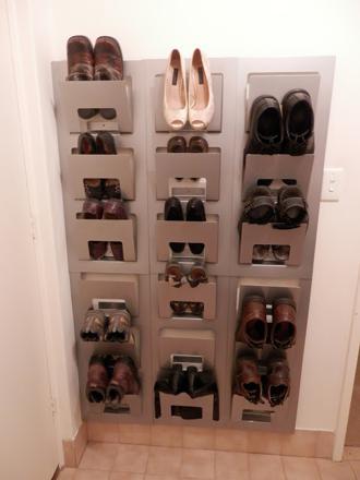 rangement chaussures fait maison
