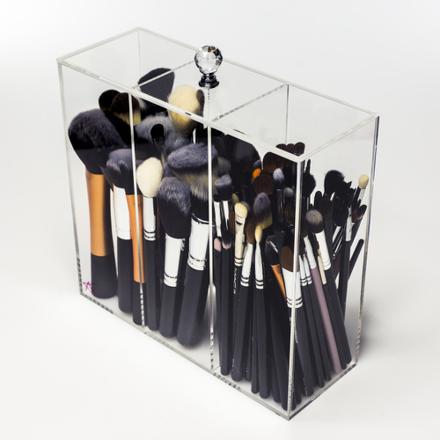 rangement pinceaux maquillage