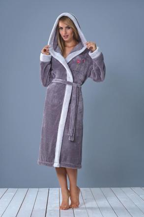 robe de chambre femme polaire avec capuche