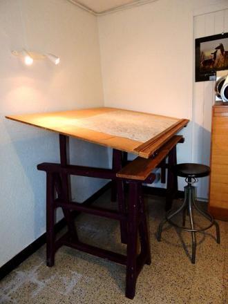 table à dessin architecte