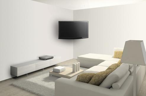 television suspendue mur