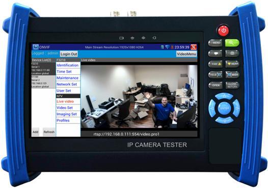 test camera ip