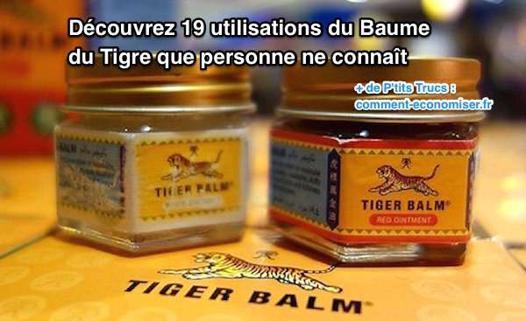 utilisation baume du tigre